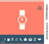 wristwatch icon | Shutterstock .eps vector #709894864