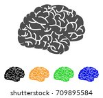 brain vector pictograph. style... | Shutterstock .eps vector #709895584