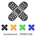 bandage vector icon. style is a ... | Shutterstock .eps vector #709897438