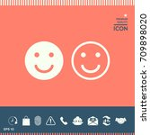 smile icon. happy face symbol... | Shutterstock .eps vector #709898020