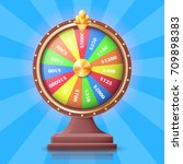 colorful wheel of fortune with... | Shutterstock .eps vector #709898383