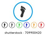 Footprint Rounded Icon. Vector...