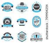beer festival oktoberfest... | Shutterstock .eps vector #709904254