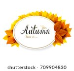 autumn banner with lettering on ... | Shutterstock .eps vector #709904830