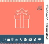gift box icon. | Shutterstock .eps vector #709906918