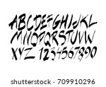 graphic font for your design.... | Shutterstock .eps vector #709910296