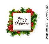 christmas background. vector... | Shutterstock .eps vector #709913464