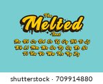 vector of stylized melted font... | Shutterstock .eps vector #709914880