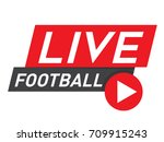 live football streaming icon ... | Shutterstock .eps vector #709915243