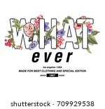 flowers with quotes print | Shutterstock .eps vector #709929538