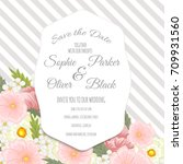 wedding invitation card suite... | Shutterstock .eps vector #709931560
