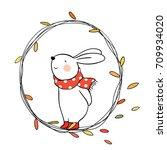 cute draw vector illustration... | Shutterstock .eps vector #709934020