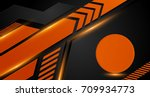 Orange And Black Geometric...