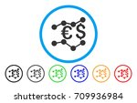 currency trends rounded icon.... | Shutterstock .eps vector #709936984