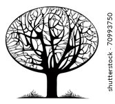 Graphic Stylized Tree Icon Wit...