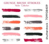 watercolor  ink or paint brush... | Shutterstock .eps vector #709938409