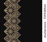 golden frame in oriental style. ... | Shutterstock .eps vector #709938964