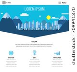 one page website design with... | Shutterstock .eps vector #709941370