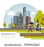 vector illustration of modern... | Shutterstock .eps vector #709942564