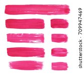 collection of acrylic brushes... | Shutterstock . vector #709947469