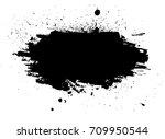 grunge paint stripe. vector... | Shutterstock .eps vector #709950544
