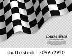 checkered flag background. race ... | Shutterstock .eps vector #709952920