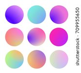 round gradient set with modern... | Shutterstock .eps vector #709955650