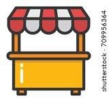 kiosk vector icon | Shutterstock .eps vector #709956364