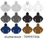 illustration of hoodie hooded... | Shutterstock .eps vector #709957336