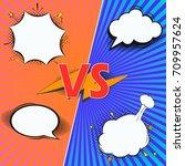 comic book versus fight intro...   Shutterstock .eps vector #709957624