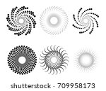halftone dots in circle form .... | Shutterstock .eps vector #709958173