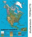 north america natural vegetation   Shutterstock .eps vector #709964770