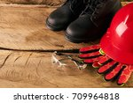 standard construction safety... | Shutterstock . vector #709964818