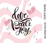 vector illustration. lettering... | Shutterstock .eps vector #709975498