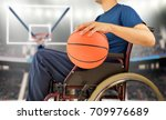 cropped basketball player in... | Shutterstock . vector #709976689