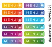 menu web button icon set | Shutterstock .eps vector #709981324