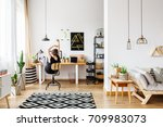 young creative artist working... | Shutterstock . vector #709983073