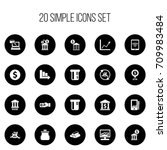 set of 20 editable financial...