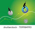 an illustration of businessman... | Shutterstock .eps vector #709984993