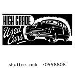 high grade used cars   retro ad ... | Shutterstock .eps vector #70998808