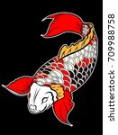 Sticker Colorful Koi Fish And...