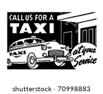 call us for a taxi   retro ad... | Shutterstock .eps vector #70998883
