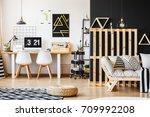 big scandi desk  designer... | Shutterstock . vector #709992208