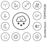 set of 12 editable air outline...