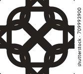 seamless geometric pattern. the ... | Shutterstock .eps vector #709993900
