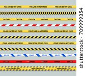 barricade tape design element... | Shutterstock .eps vector #709999354
