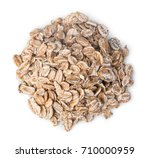 pile of oatmeal isolated on... | Shutterstock . vector #710000959