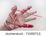 martenitsa is a small piece of...   Shutterstock . vector #71000713