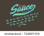 vector of modern stylized font...   Shutterstock .eps vector #710007193