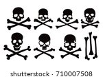 seven cross bones with the... | Shutterstock .eps vector #710007508